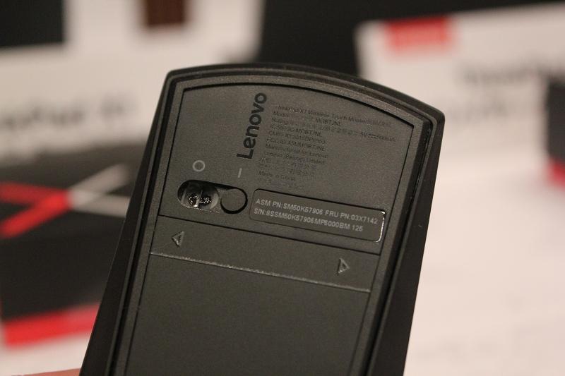 ThinkPad X1 ワイヤレスタッチマウス スイッチ