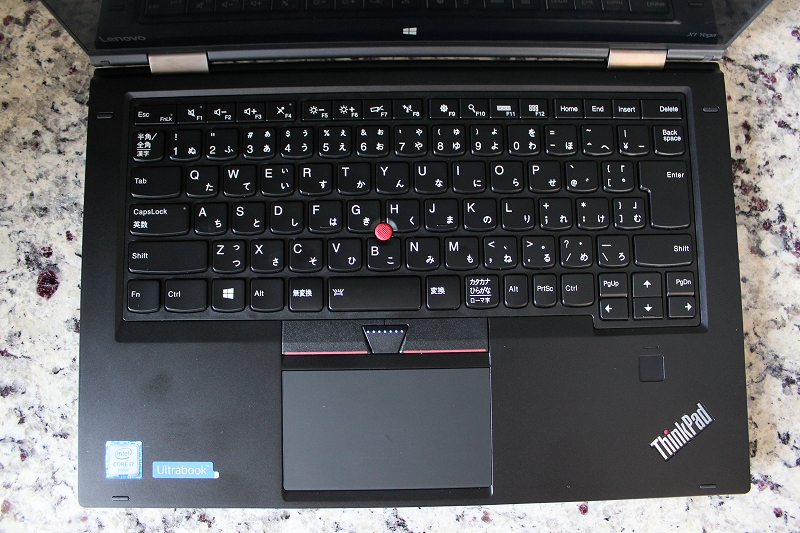 ThinkPad X1 Yogaのキーボード