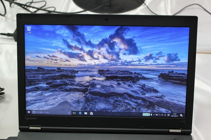 ThinkPad L570 液晶をチェック