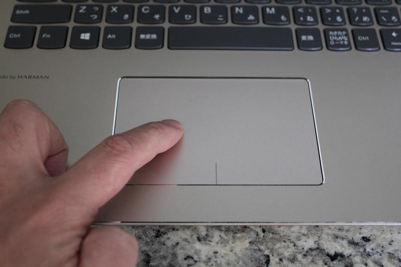 ideaPad 520のタッチパッド