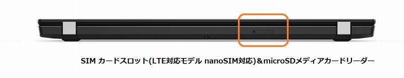 ThinkPadのSIMスロット