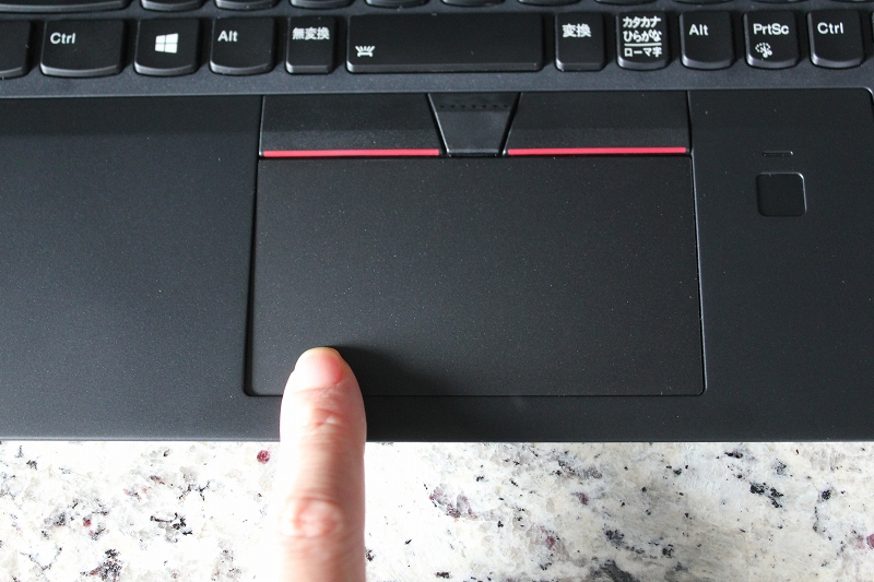 ThinkPad X280のクリックパッドの使用感