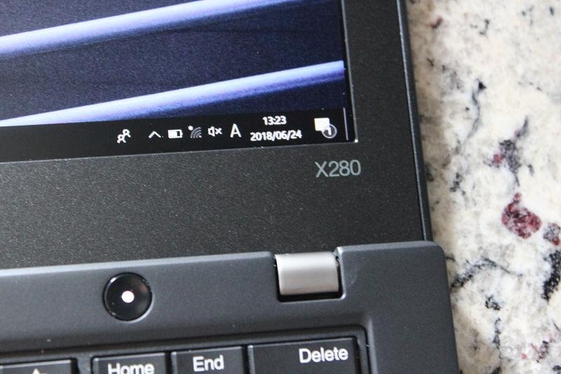 ThinkPad X280の型番のプリント