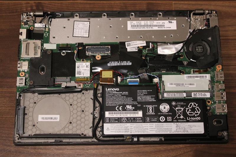 ThinkPad X260の分解写真