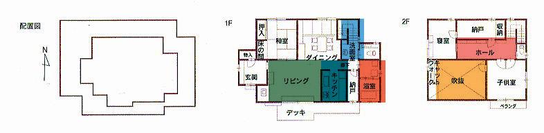 Kさん邸:配置図