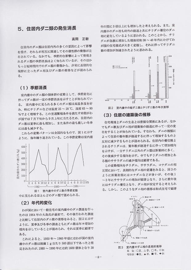 5.住居内ダニ類の発生消長:高岡正敏