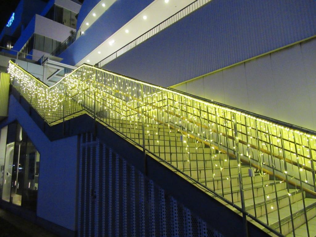 階段のイルミネーション