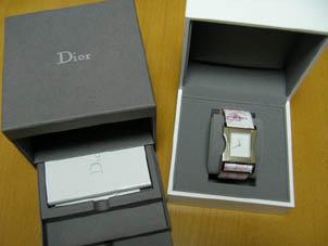 Dior クリス47 ピンク&ホワイト ロゴフラワー
