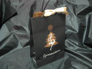 クリスマス仕様のペーパーバッグ