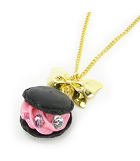 【QUNIEE 5th】ribbon macaron necklace