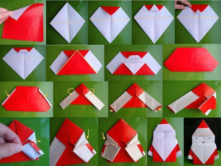 簡単 折り紙 折り紙サンタの作り方 : americajijo.jugem.jp