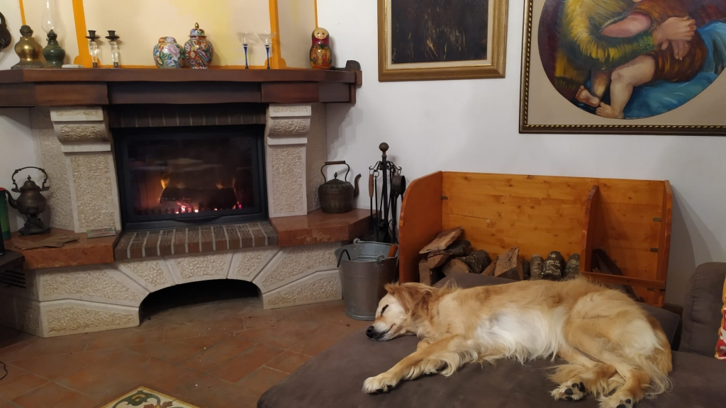 イタリア製暖炉