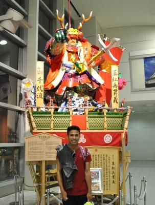 福岡空港にて到着時に