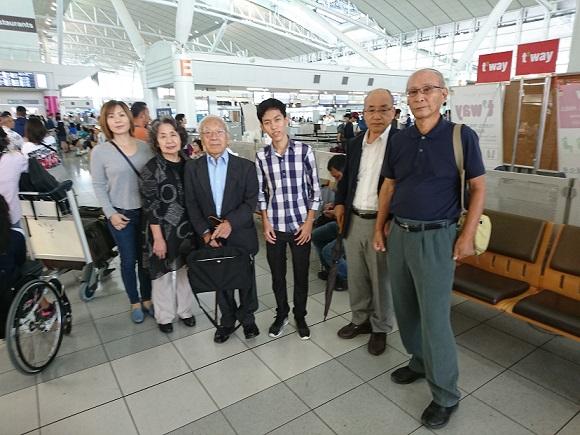 福岡空港国際線にて