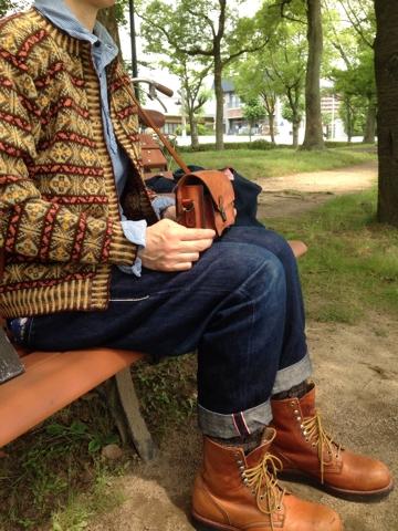 撮影会   セーターの巻
