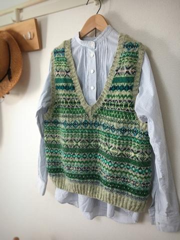 今日の編み物クラブで