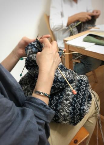 昨日の編み物クラブ