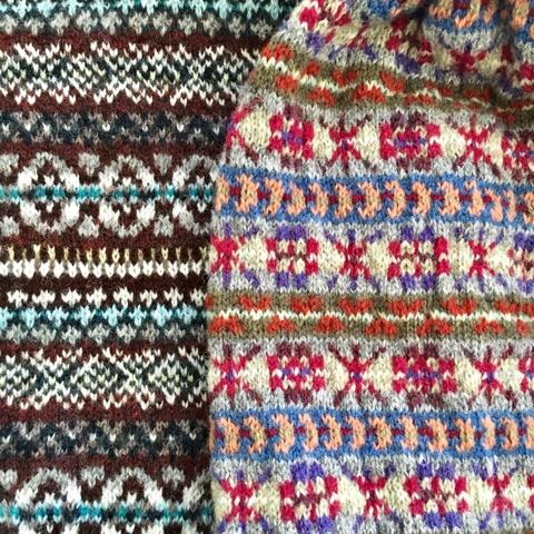 今日の編み物クラブにて