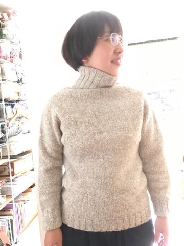 タートルネックセーターのオーダー