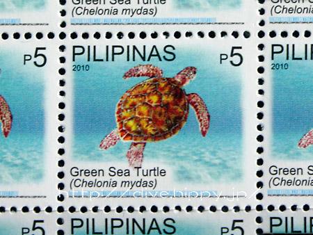フィリピンの海洋生物の切手/カメ