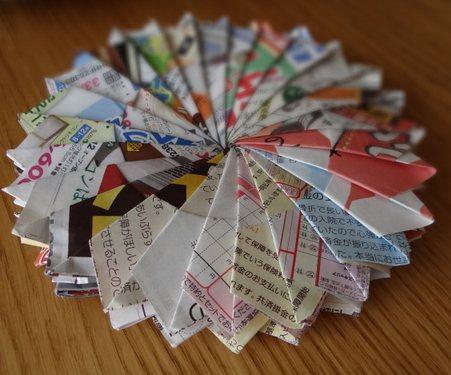 ハート 折り紙 折り紙鍋敷き作り方 : blog2.lalahappy.chu.jp
