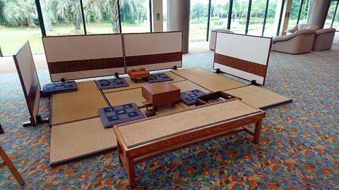 ロビーの囲碁将棋スペース