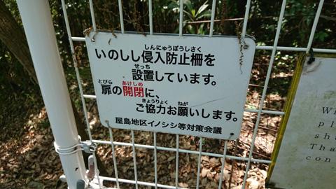 いのしし侵入防止柵