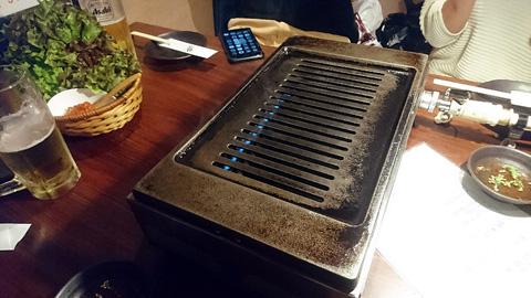 焼肉の鉄板