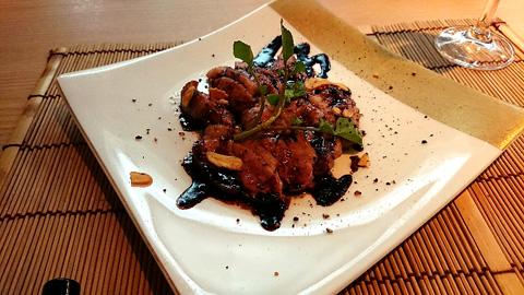 鴨の黒胡椒焼