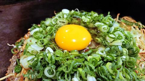 卵と九条ネギ