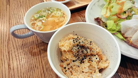 玄米と味噌スープ