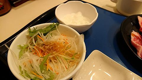 野菜と杏仁豆腐