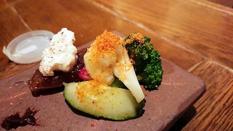 奈良漬けと野菜