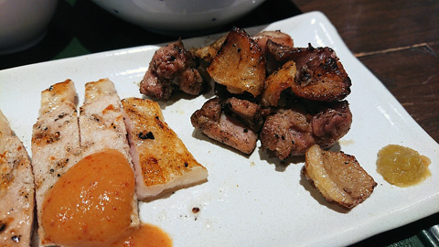 ヒネ鶏もも肉の塩焼き