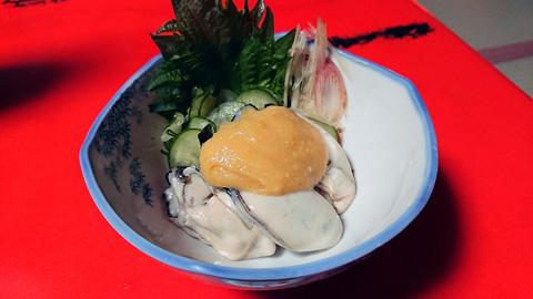 牡蠣の酢味噌合え