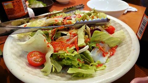 炙りイカと桜海老の和風サラダ
