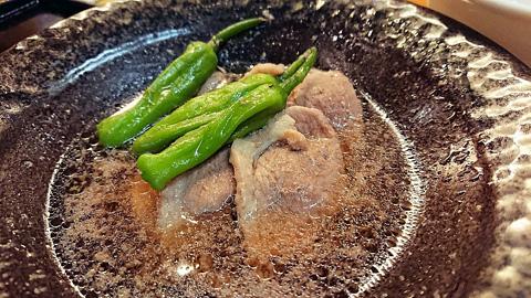 山菜と鴨肉の炊き合わせ