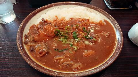 鯖の味噌煮カレー