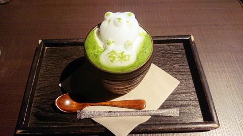 まろ濃い抹茶ラテ 3Dアート