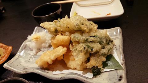 菜の花と筍の天ぷら