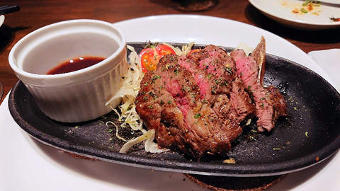 牛メガネのステーキ