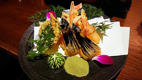 蟹爪と野菜の天麩羅