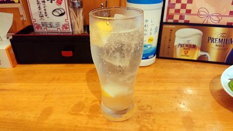 レモン炭酸水