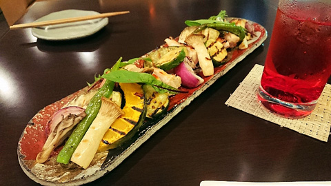 近江地鶏と野菜の塩麹グリル
