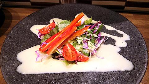 京野菜入りコーンドレッシングサラダ