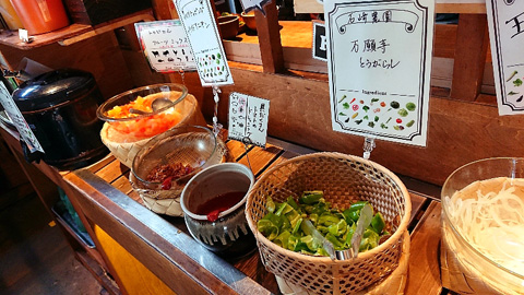 野菜ソムリエ厳選野菜が食べ放題