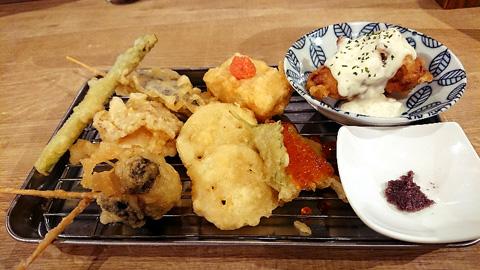 天ぷら串おまかせ盛合わせ 贅沢8本