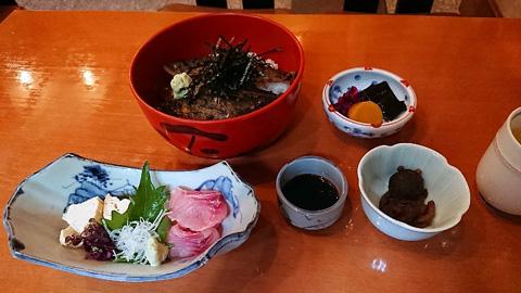 鮎茶漬け(上)