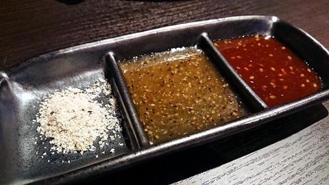 3種のタレ
