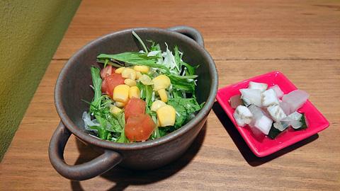 サラダとピクルス